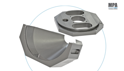 Aluminium Parts with hard anodization