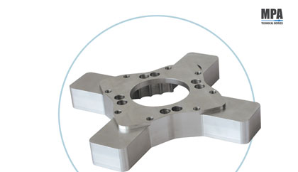 Aluminium machine part - pharmaceutical format parts