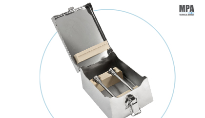 Sterilization box of guide tubes for stoppers by MPA